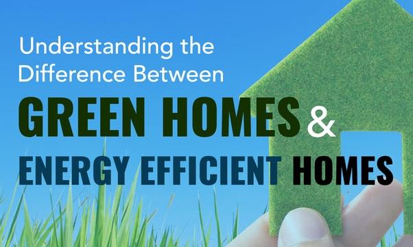 Green Homes vs. Energy Efficient Homes