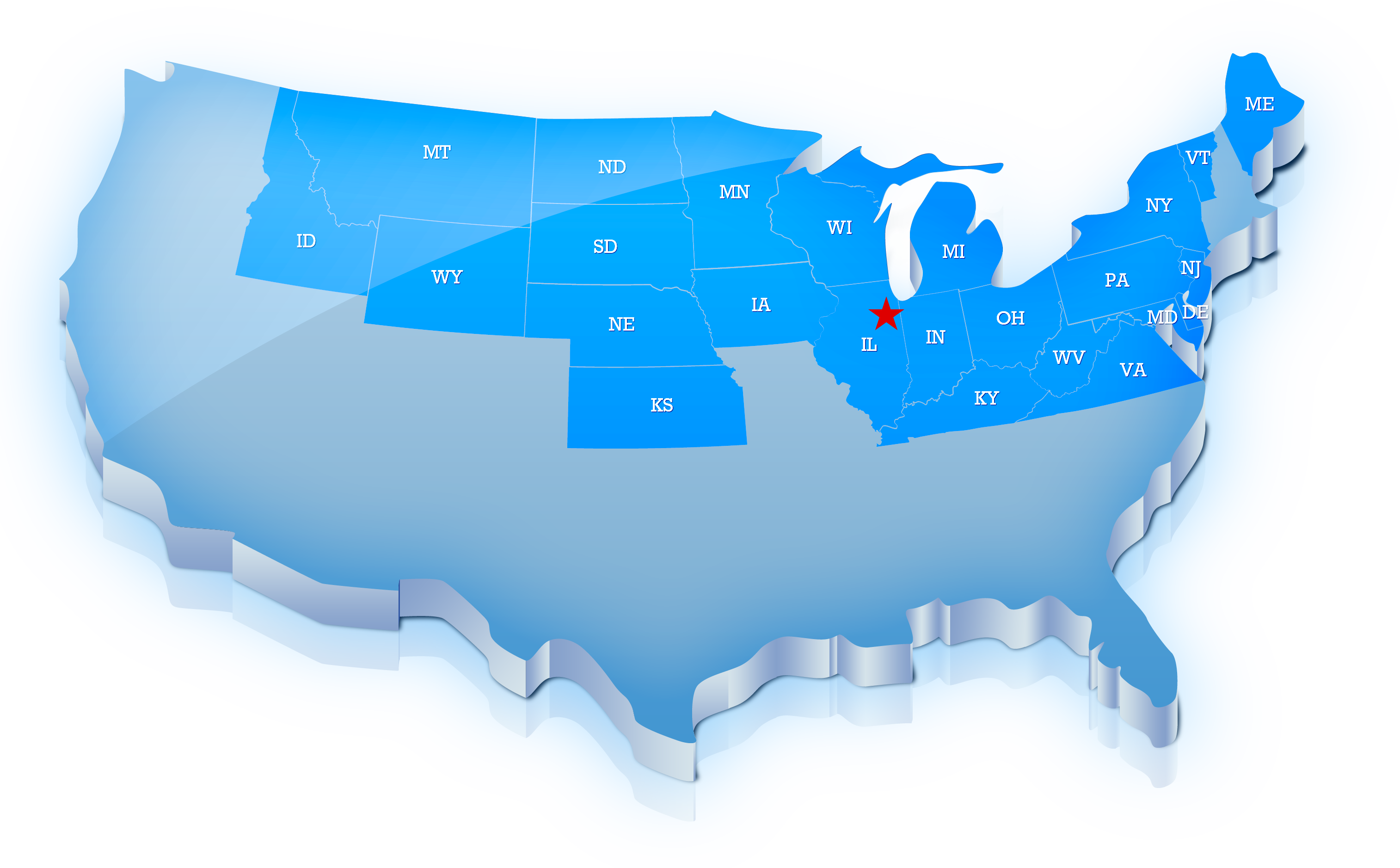 Northwest and Midwest United States