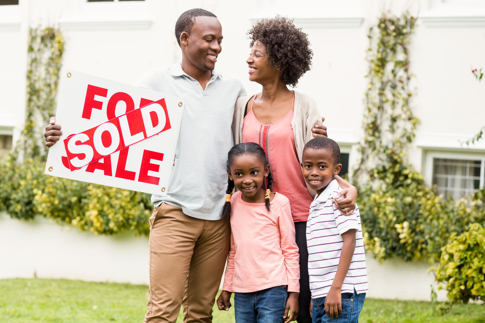 Home Sold Happy Family