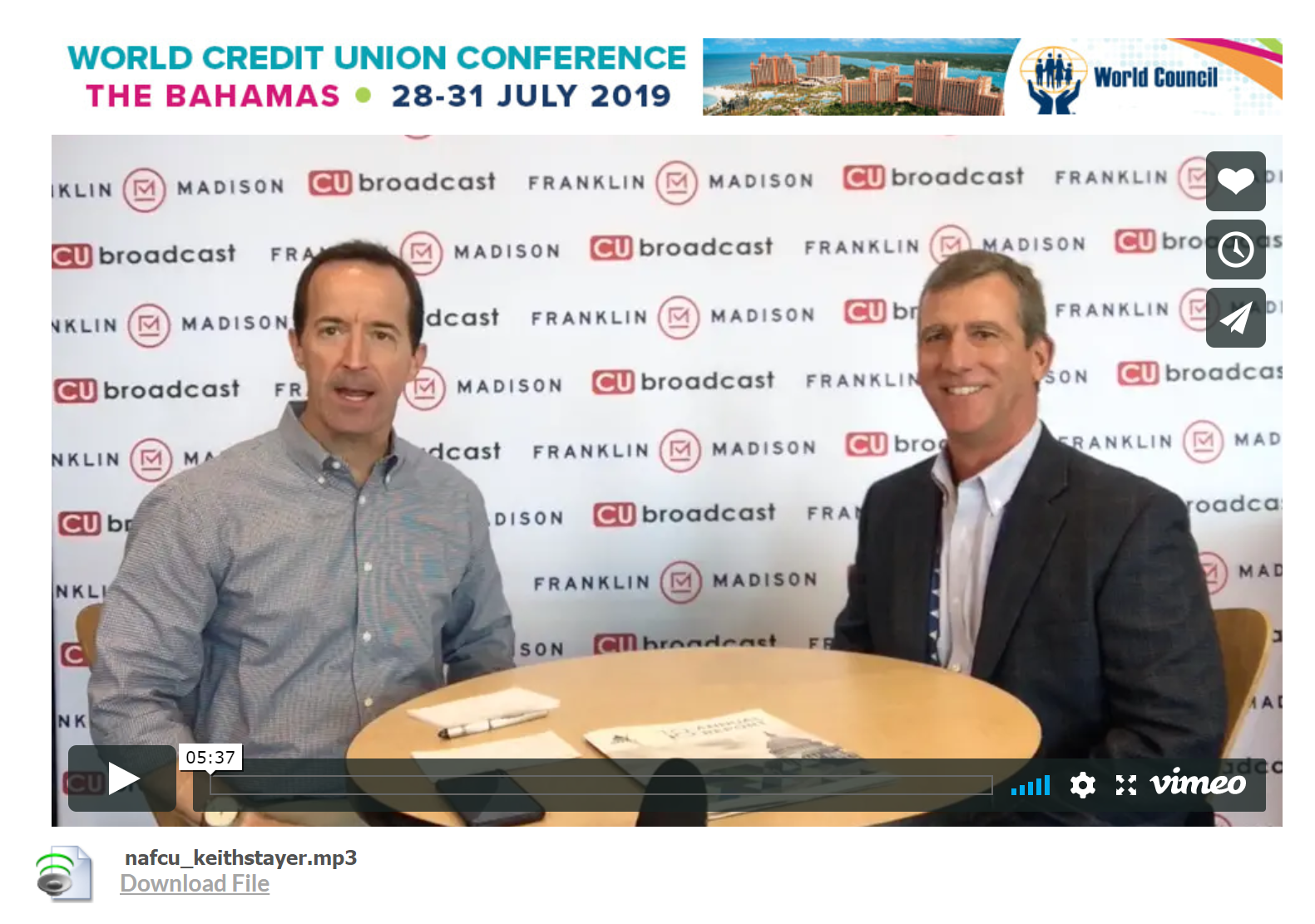 Interview of Keith Stayer at the NAFCU Annual Conference in New Orleans